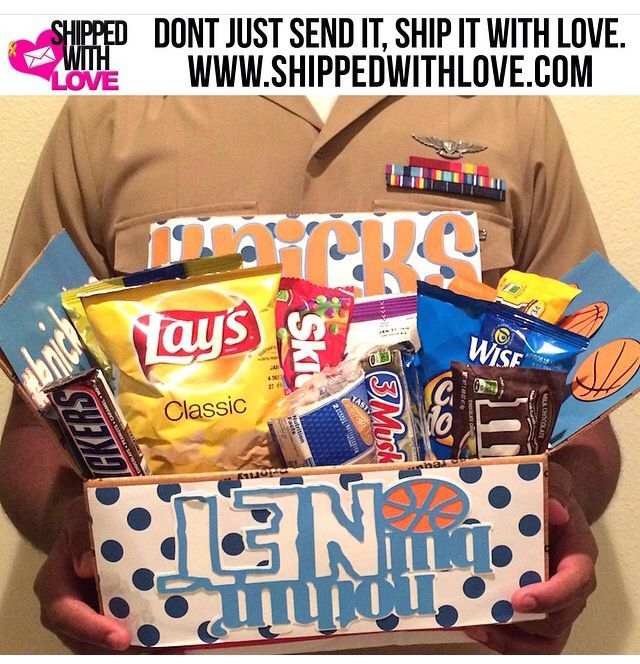 Send your favorite soldier a package filled with snacks as