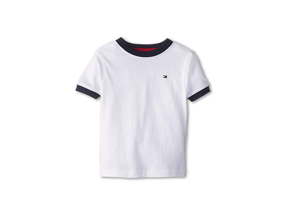 Tommy Hilfiger White Tommy Flag Crewneck Tee Toddler & Boys