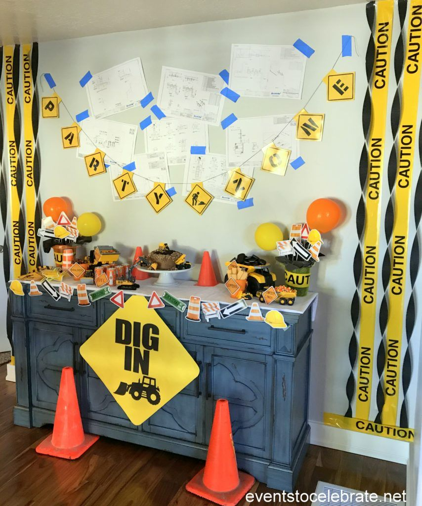 Construction birthday party construction theme party