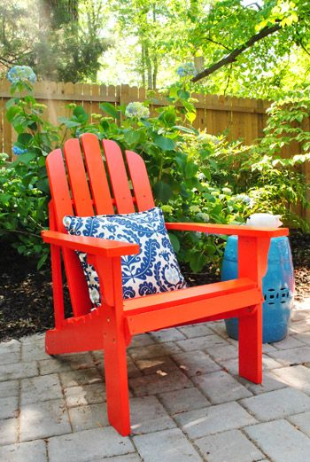 Love Red Adirondack Chairs! Joss U0026 Main Marina In Cherry Tomato As Seen By  Younghouselove.