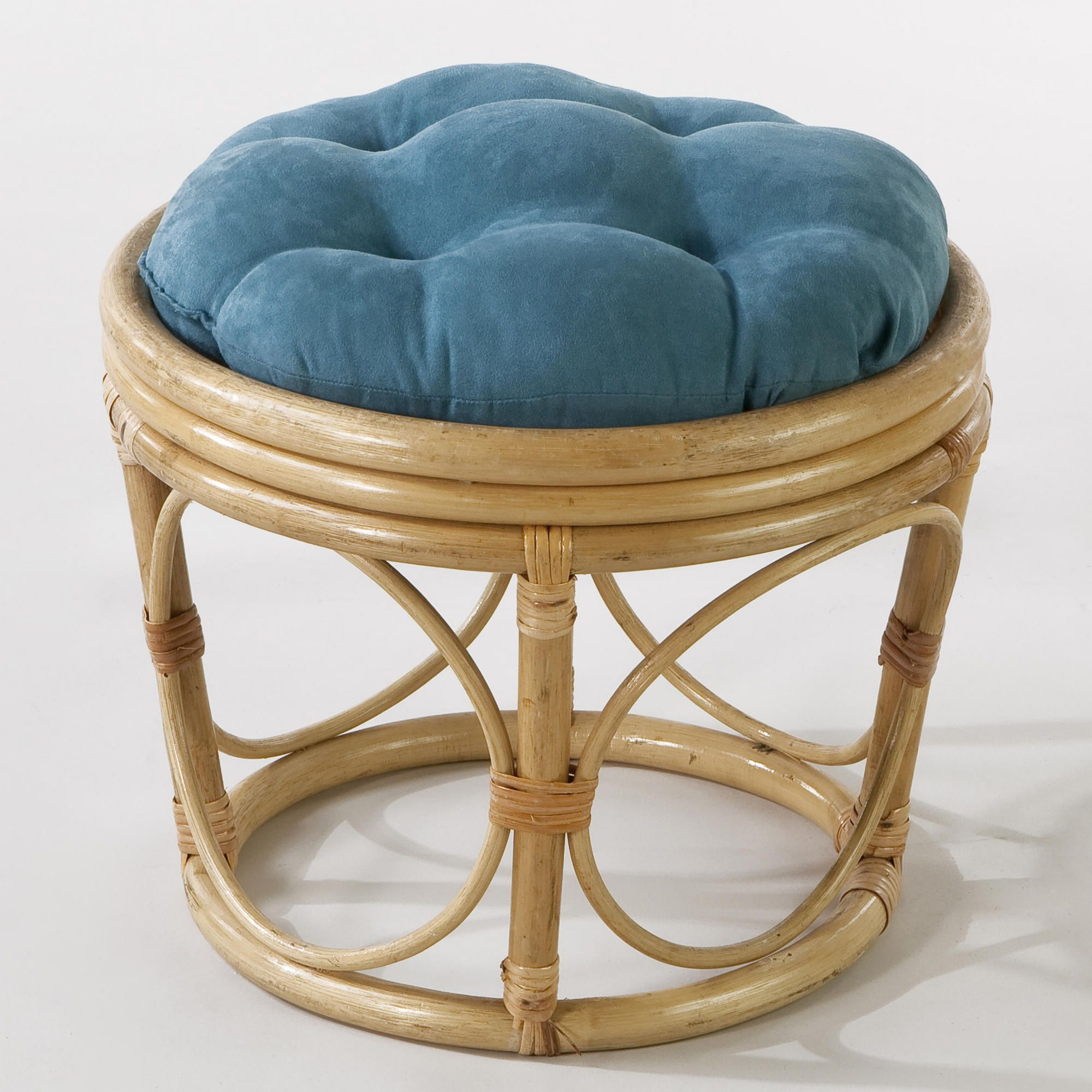 Porcelain Microsuede Papasan Stool Cushion World Market Stool