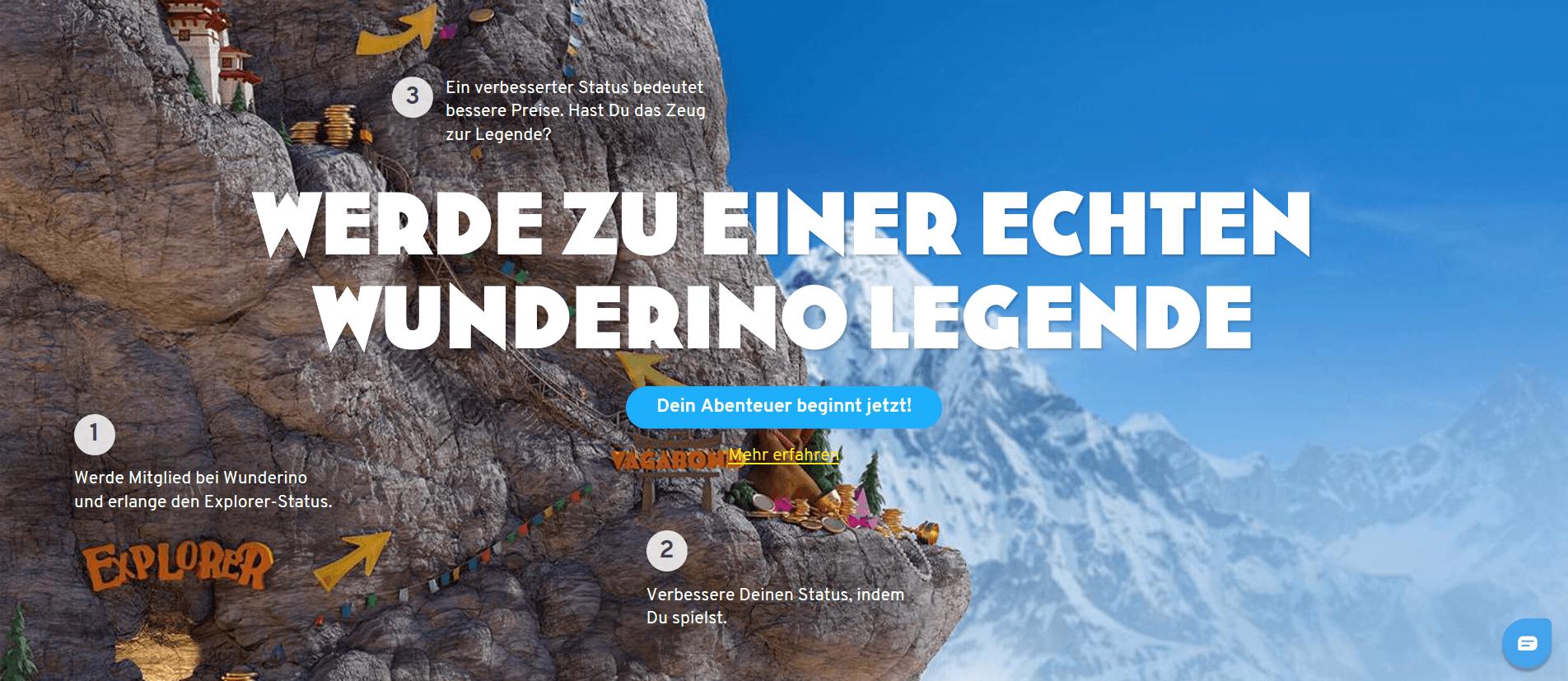 Wunderino - Deutschlands Online Casino Spielautomaten