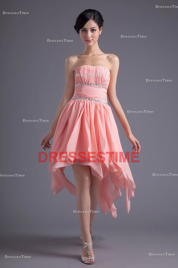 Pink prom dress Short prom dress / chiffon prom by dressestime ...