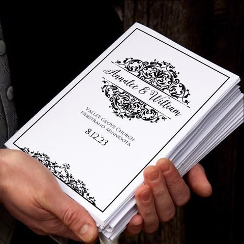 Elegant Wedding Program Template  Design  Wedding Prints