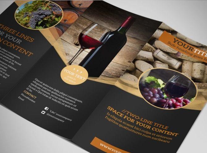 Winetourtrifoldbrochuretemplatejpg BROCHURE - Brochure maker template