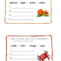 Classement alphabétique (met afbeeldingen)