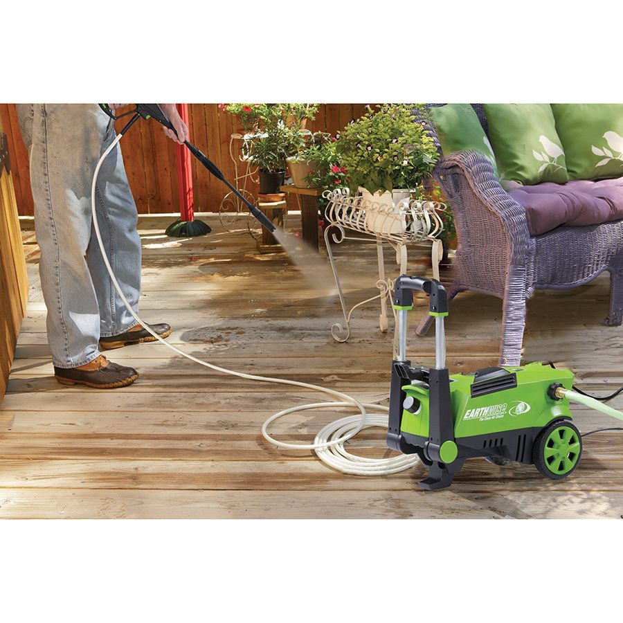 Earthwise Electric Pressure Washer 1650 Psi With Dual Operation And Built In Detergent Tank Black Metal Pw15003