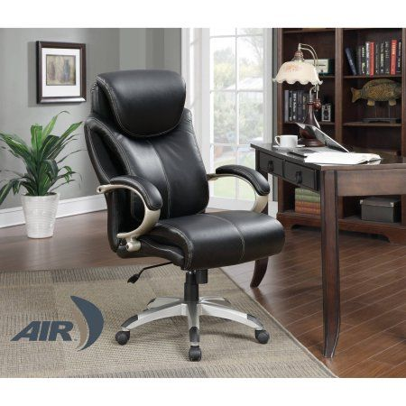 Serta Big And Tall Wellness By Design Executive Leather Office Chair