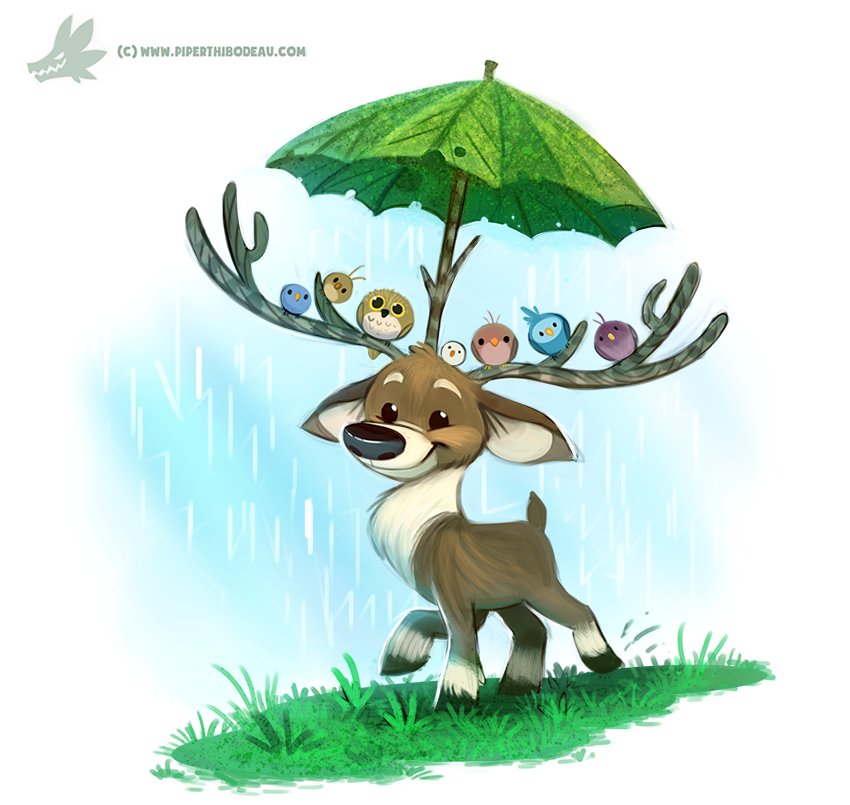 Daily Paint #1199. Raindeer by Cryptid-Creations on DeviantArt