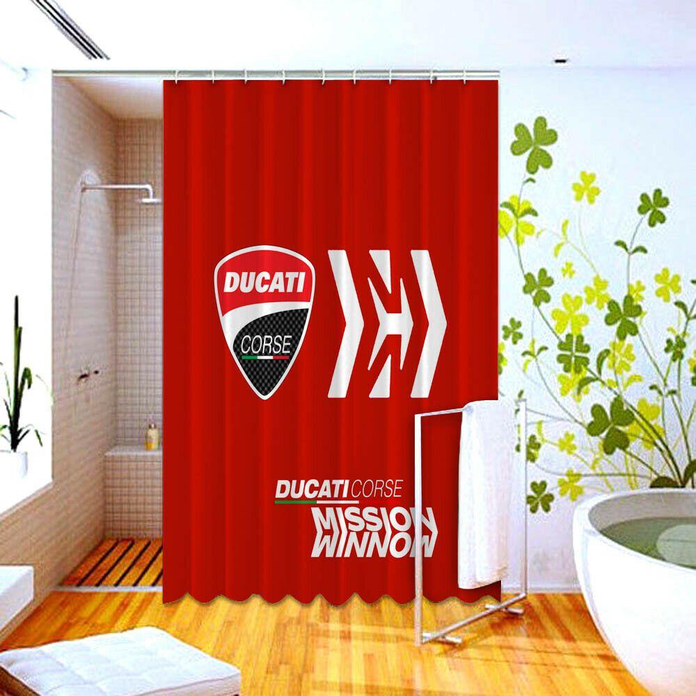 Ducati Corse Mission Winnow Logo High Quality Custom Shower