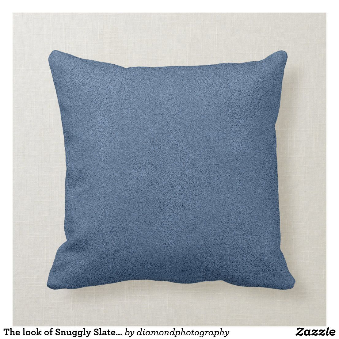 The Look Of Snuggly Slate Blue Suede Texture Throw Pillow Zazzle Com In 2021 Textured Throw Pillows Throw Pillows Blue And White Pillows