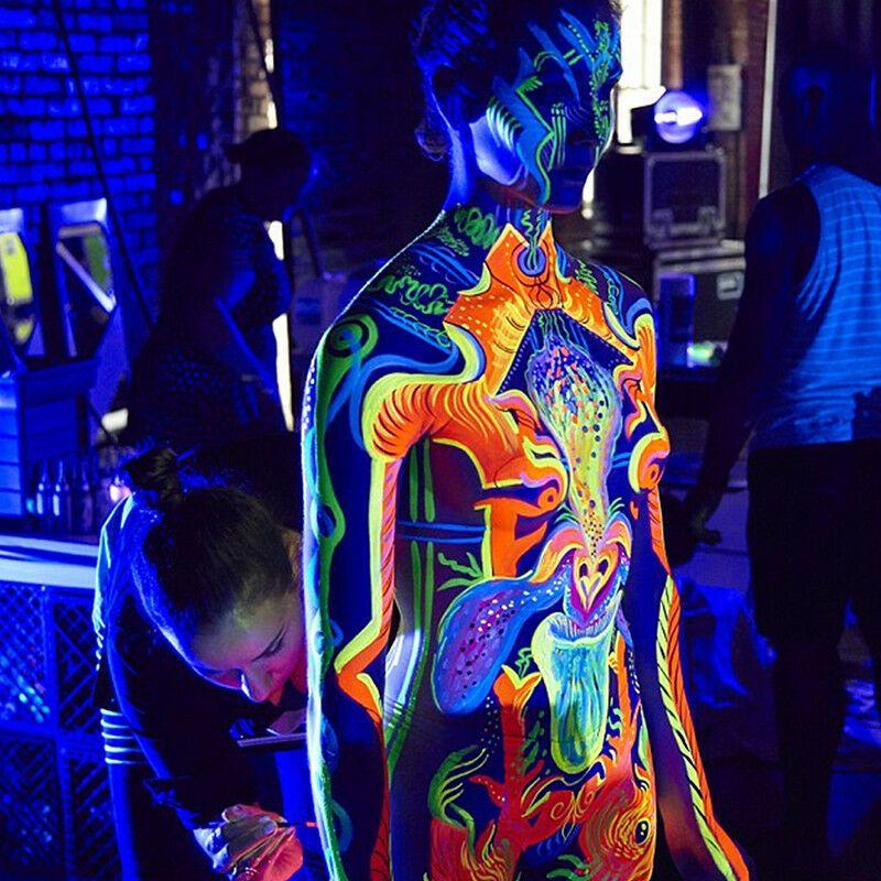 PAINT GLOW in The Dark Neon Luminous Face Body Halloween