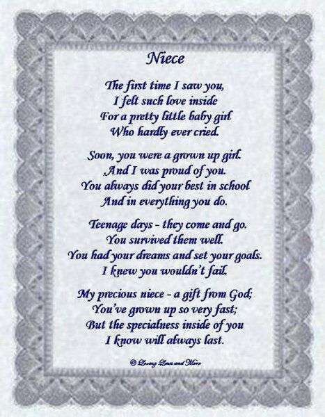 For Niece On Wedding Day Hy Birthday Poems