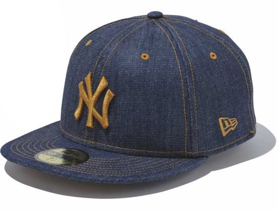 New York Yankees Indigo Denim 59fifty Fitted Cap By New Era X Mlb Hats For Men Cap Fitted Caps