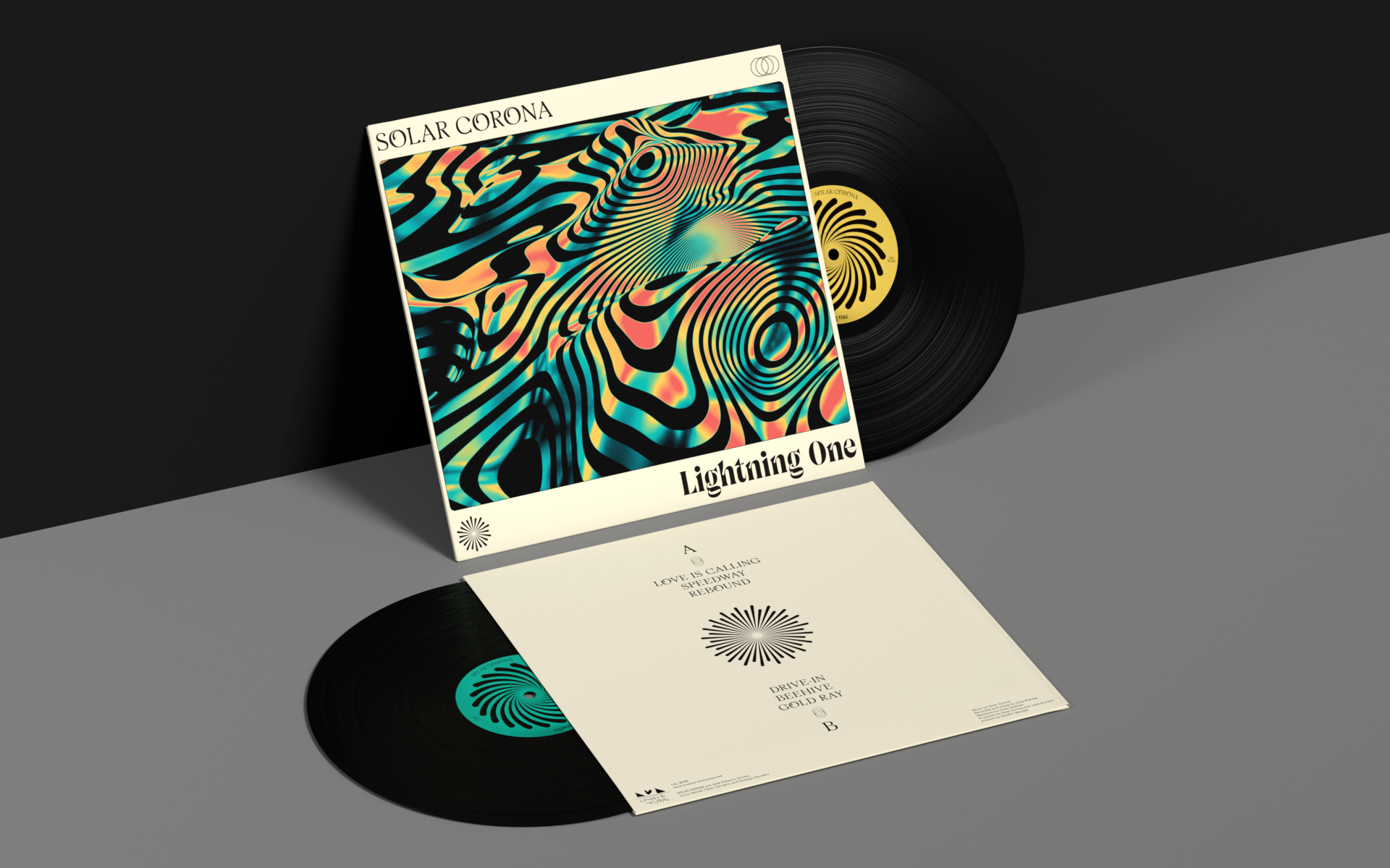 Behance For You Solar Corona Record Artwork Psychedelic Rock