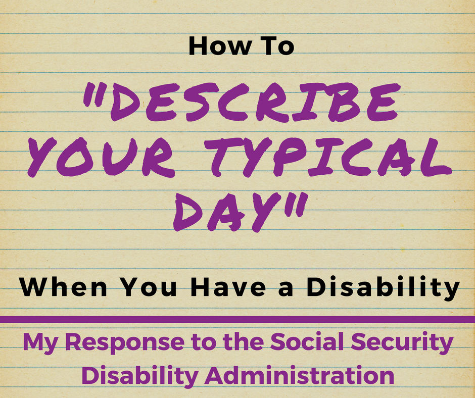How To Describe Your Typical Day When You Have A Disability Migraine Headaches Disability Headache Treatment