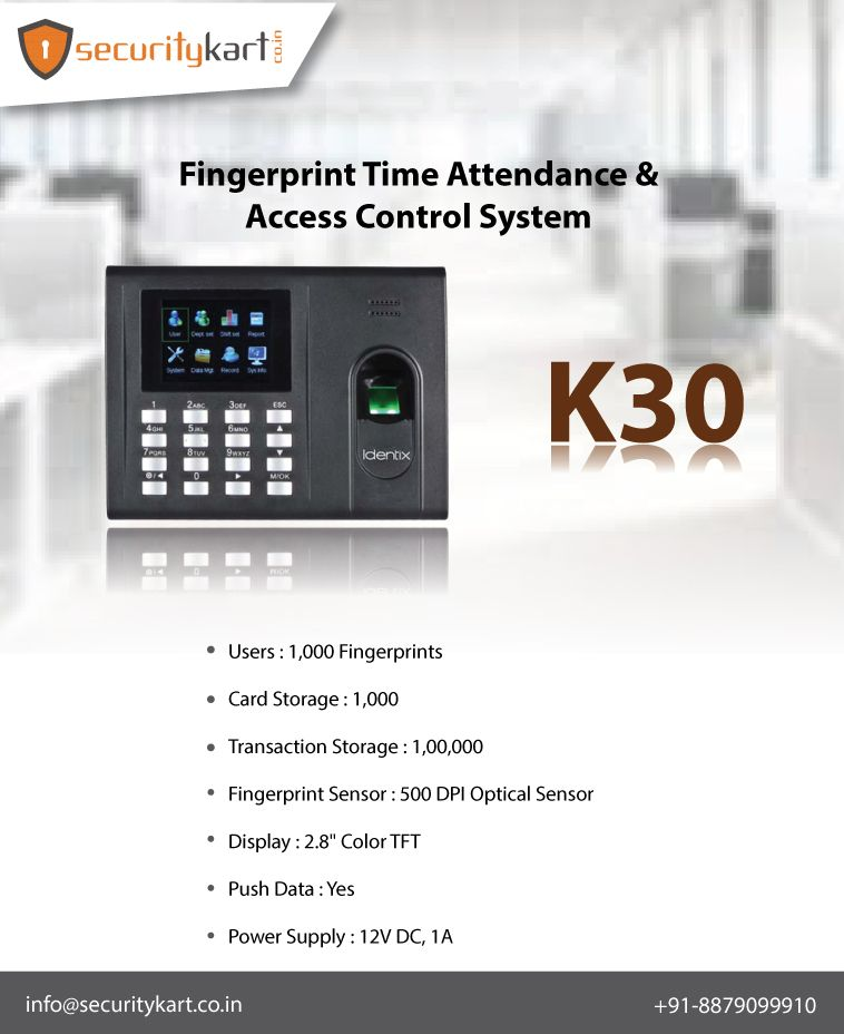Buy Fingerprint Attendance System with Access Control System