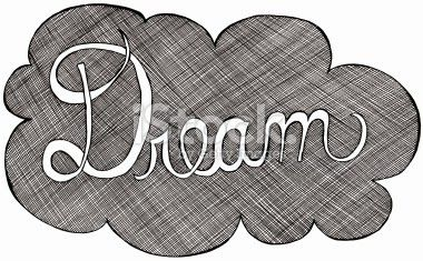 hand lettered dream cloud