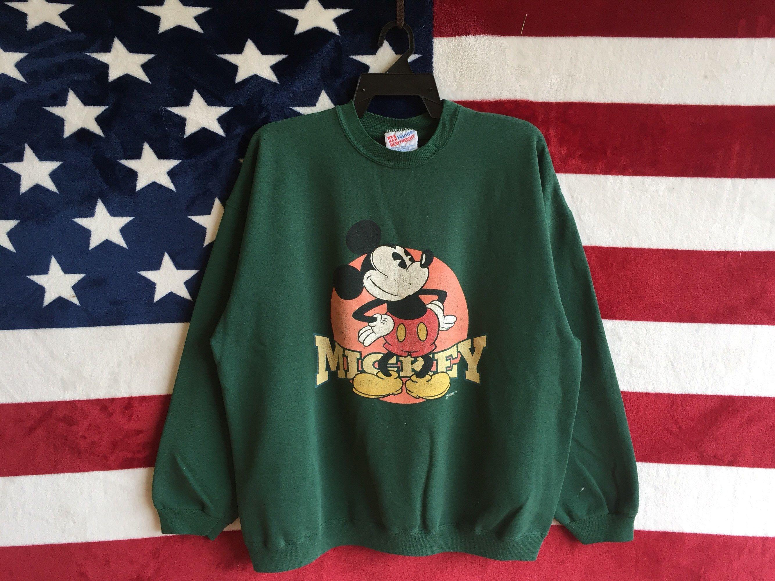 Vintage 90s Disney Mickey Mouse Sweatshirt Green Colour Mickey Mouse Crewneck By Disney Sweat Vintage Crewneck Sweatshirt Disney Sweatshirts Vintage Sweatshirt [ 2000 x 2668 Pixel ]