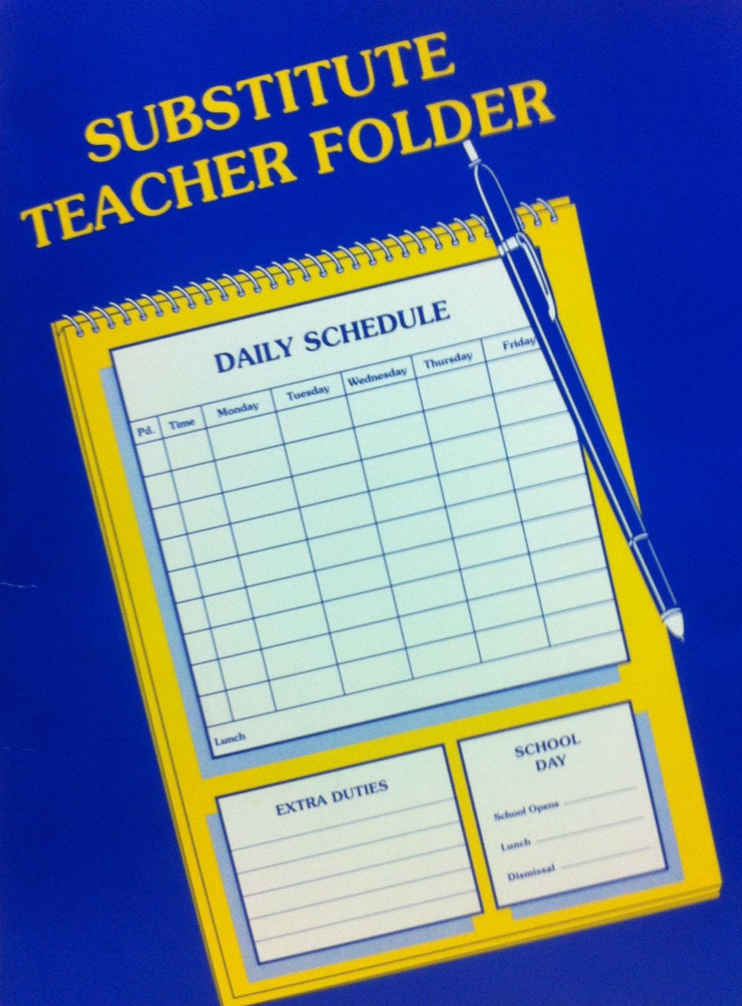Substitute Teacher Folder