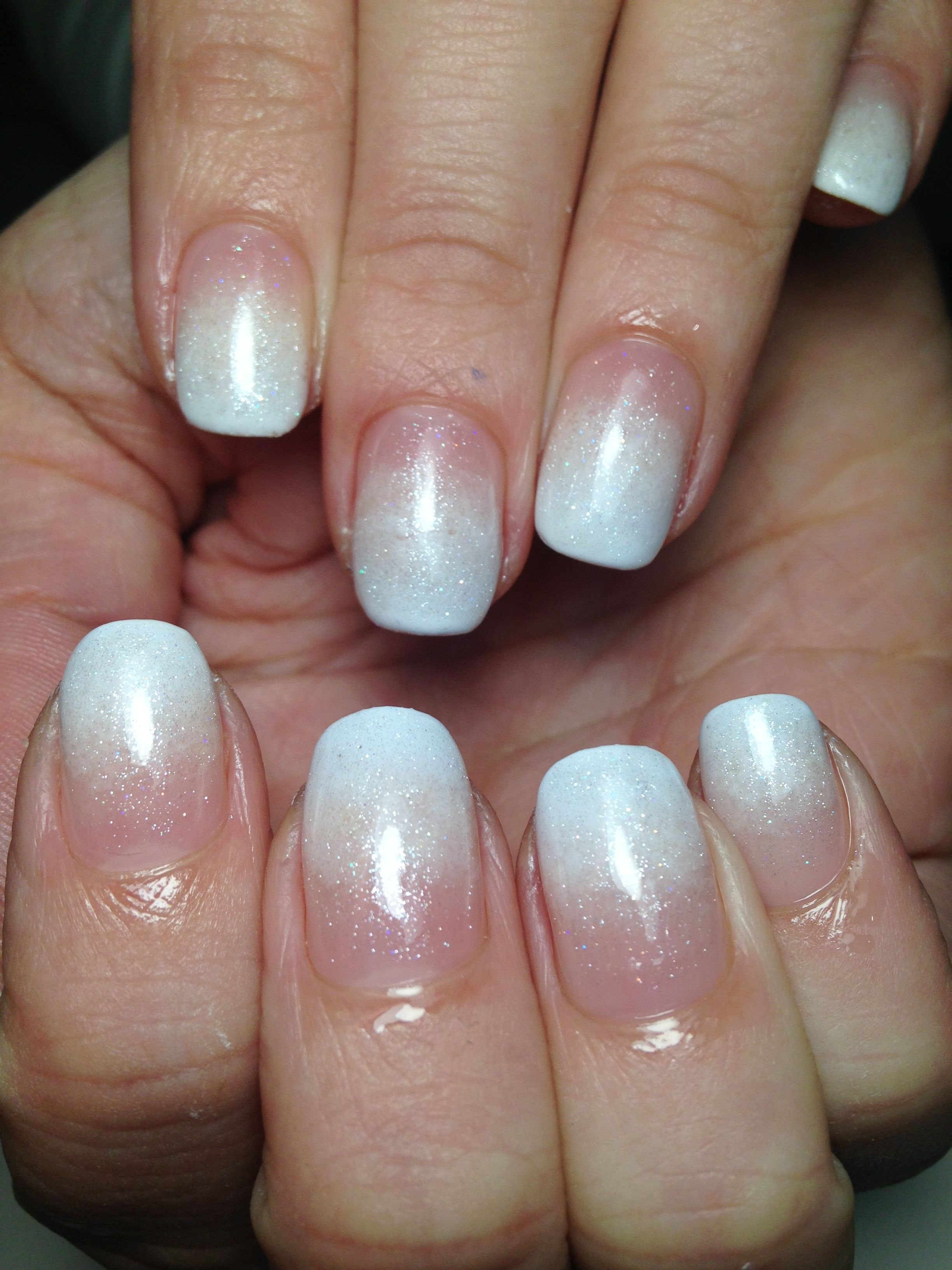 Whithe french ombre | My Bio Sculpture Gel Nails | Pinterest | Bio ...