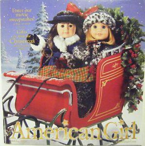 American Girl Holiday Catalog Holiday 2004 Samantha Nellie in Christmas Sleigh | eBay