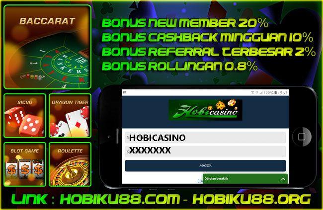 Agen Live Casino & Sabung Ayam Online HOBIKU88.ORG Promo