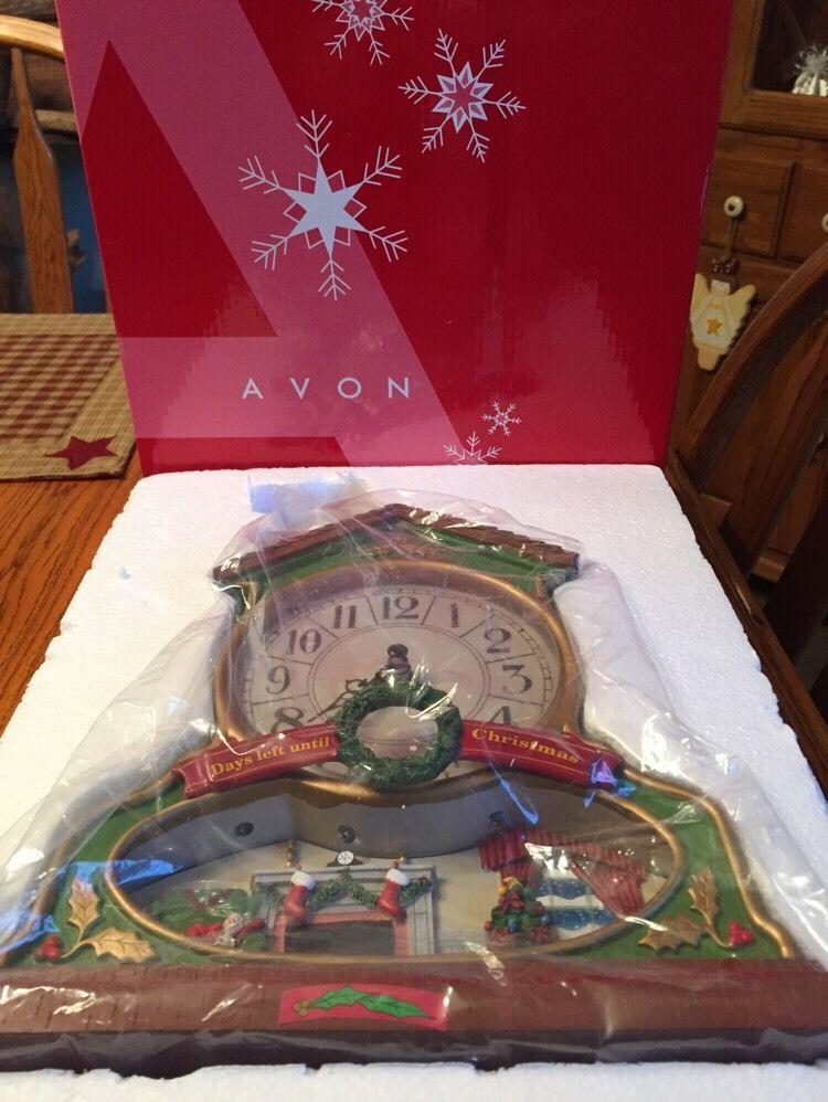 nib 2007 avon musical christmas countdown clock never usedmint condition - Musical Christmas Clock