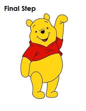 Draw Winnie the Pooh Stepbystep tutorial  Winnie the Pooh