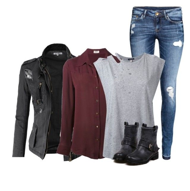 """""""Dean Winchester"""" by inspiredoutfitsfandoms ❤ liked on Polyvore featuring Doublju, L'Agence, H&M and R13"""