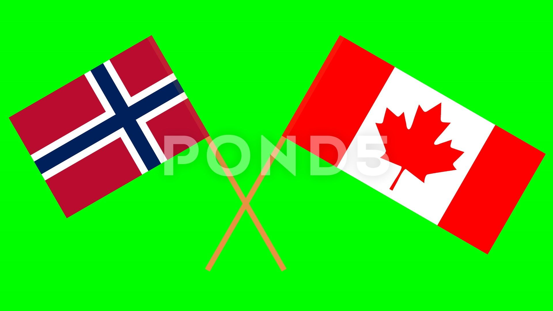 The Footage With Crossed Flags Of Norway And Canada In Front Of A Green Screen Stock Footage Ad Norway Canad Greenscreen Social Media Design Graphics Norway
