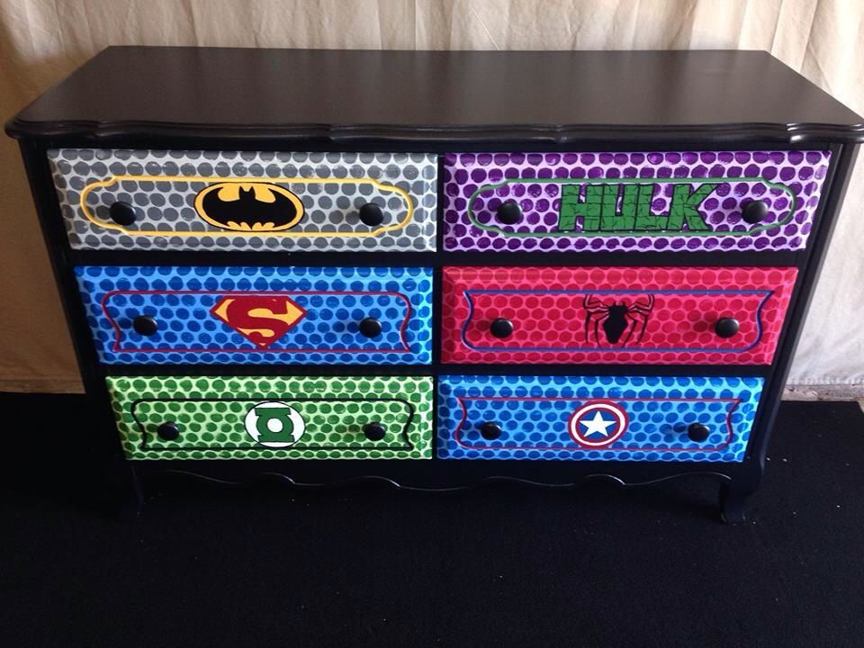 Superhero Dresser Superhero Room Kids Room Boy Room