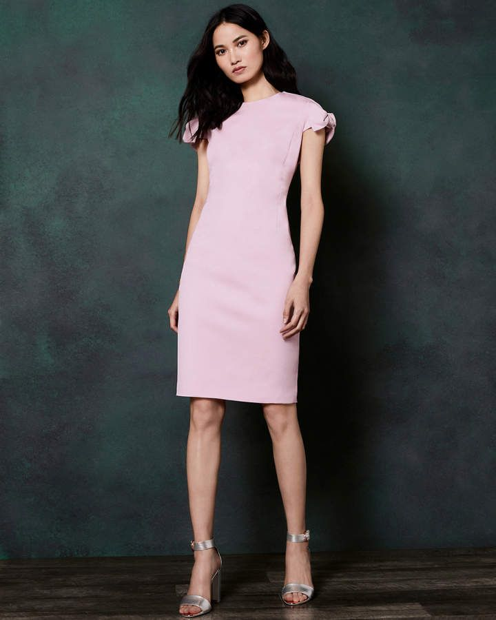 2eac43f14bee02 Ted Baker TOPLYD Bow shoulder dress
