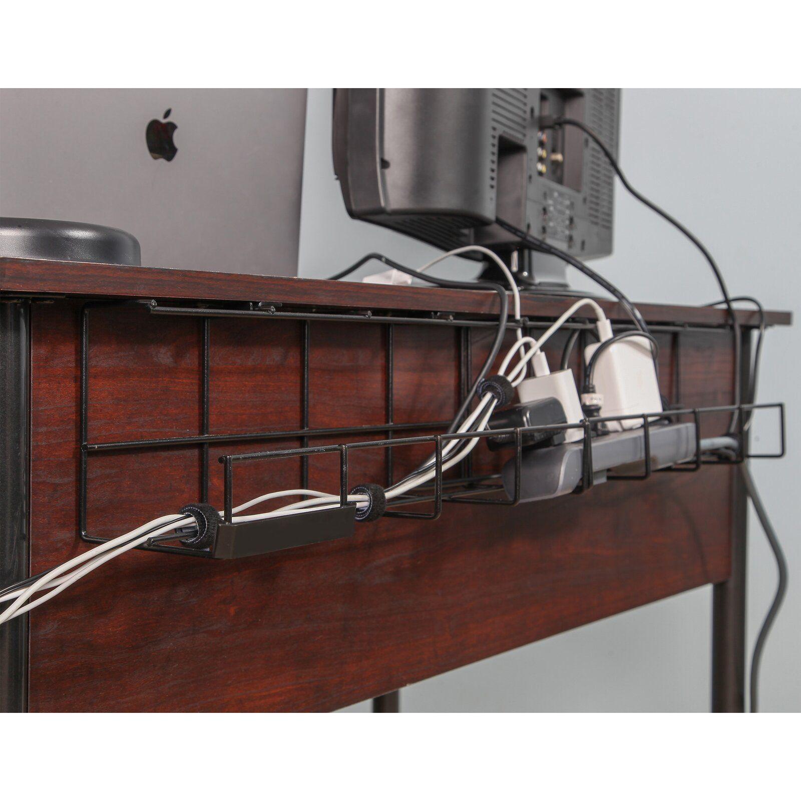 Wire Tray Desk Cable Organizer In 2020 Cable Organizer Desk