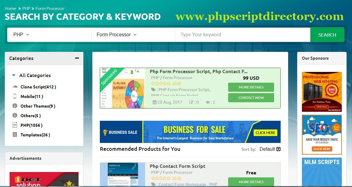 Php Form Processors Script Is The Collection Of Free And