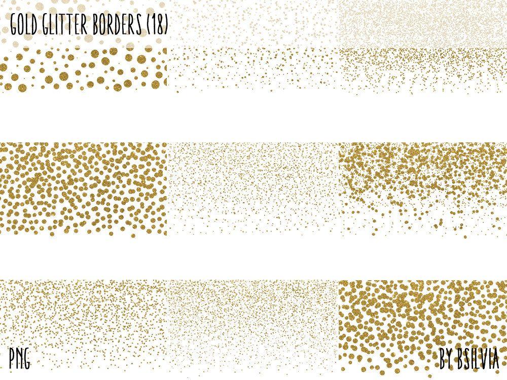 Gold Glitter Confetti Borders Pack Digital Gold Confetti Png Etsy Gold Glitter Confetti Gold Confetti Gold Glitter