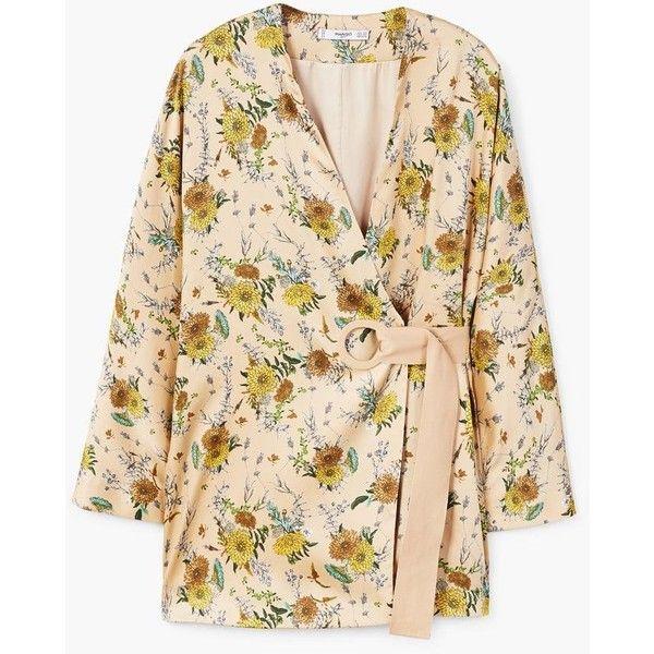 regard détaillé 100% authentique acheter MANGO Floral print kimono ($100) ❤ liked on Polyvore ...