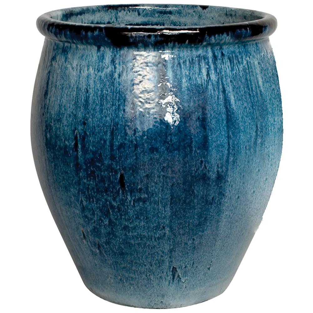 Https Www Scenariohome Collections Glazed Ceramic Terra Cotta Planters Products Large Planter Blue
