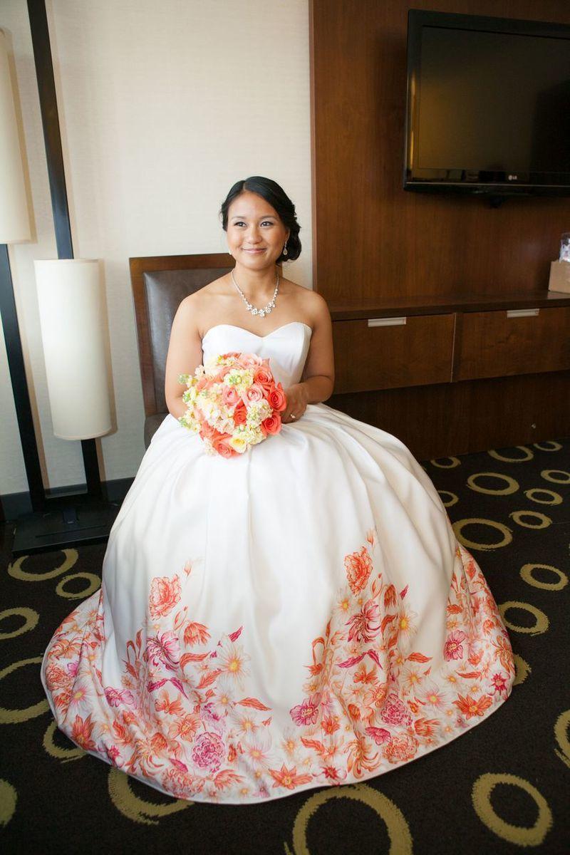 Floral print wedding dress power pins pinterest wedding dress