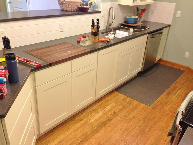 with block kitchen steel cutting dark board white cabinet straight butcher amusing stainless countertop base wood double cheap undermount faux in sink countertops