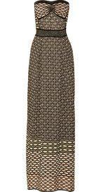 M MissoniMetallic textured-knit maxi dress