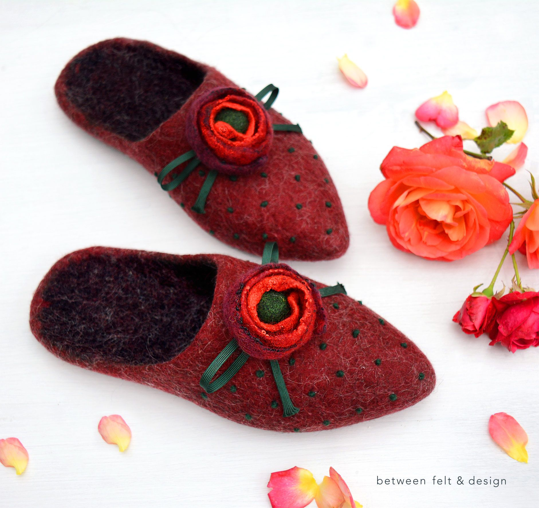 felted slippers pointy mules useful present natural wool slippers women accessories black friday christmas gift
