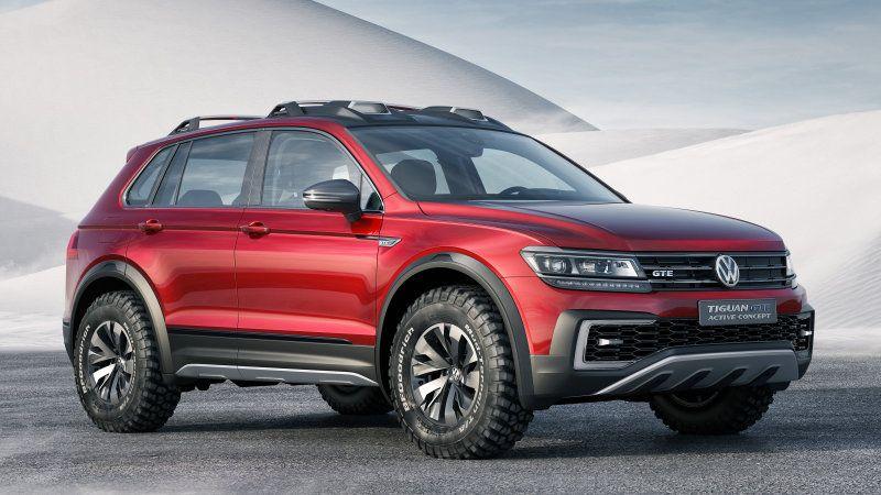 Vw Tiguan Gte Active Concept Is A Sporty Off Road Hybrid W Video Volkswagen Detroit Motors Suv