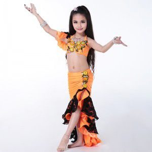 e1a16e8c3291 New Arrival Belly Dance Outfits 2 Pieces(Bra+Skirt) Egyptian Belly Dance  Costume Children/Kids/Girls bellydance Costume