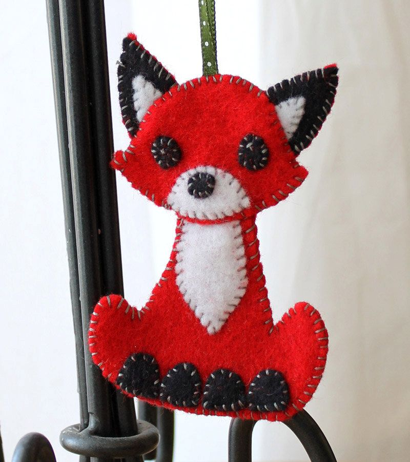 Fox Felt Christmas Ornament Handmade Via Etsy