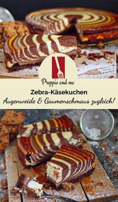 Zebra-Käsekuchen - Augenweide & Gaumenschmaus!