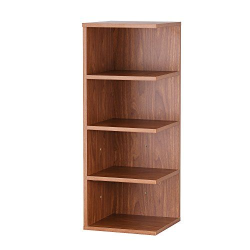 Asense 32 Inch Reader S Stand 4 Shelf Bookcase Brown 4 Shelf Bookcase Bookcase Shelves