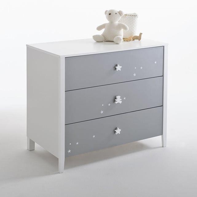 commode 3 tiroirs enfant lulu castagnette la redoute interieurs chambre enfant pinterest. Black Bedroom Furniture Sets. Home Design Ideas