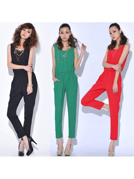 This sexy slim jumpsuit is tweaked just enough to suit your contemporary, cool-girl sensibilities. Its sleeveless design, boat neck, and pleated style all lend a classy, feminine touch you will love...and it will become a favorite for its superb comfort.  #jumpsuit #summerfashion #women
