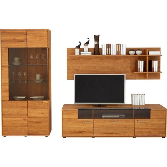 wohnwand in eichefarben wohnwand pinterest w nde wohnen und wohn esszimmer. Black Bedroom Furniture Sets. Home Design Ideas